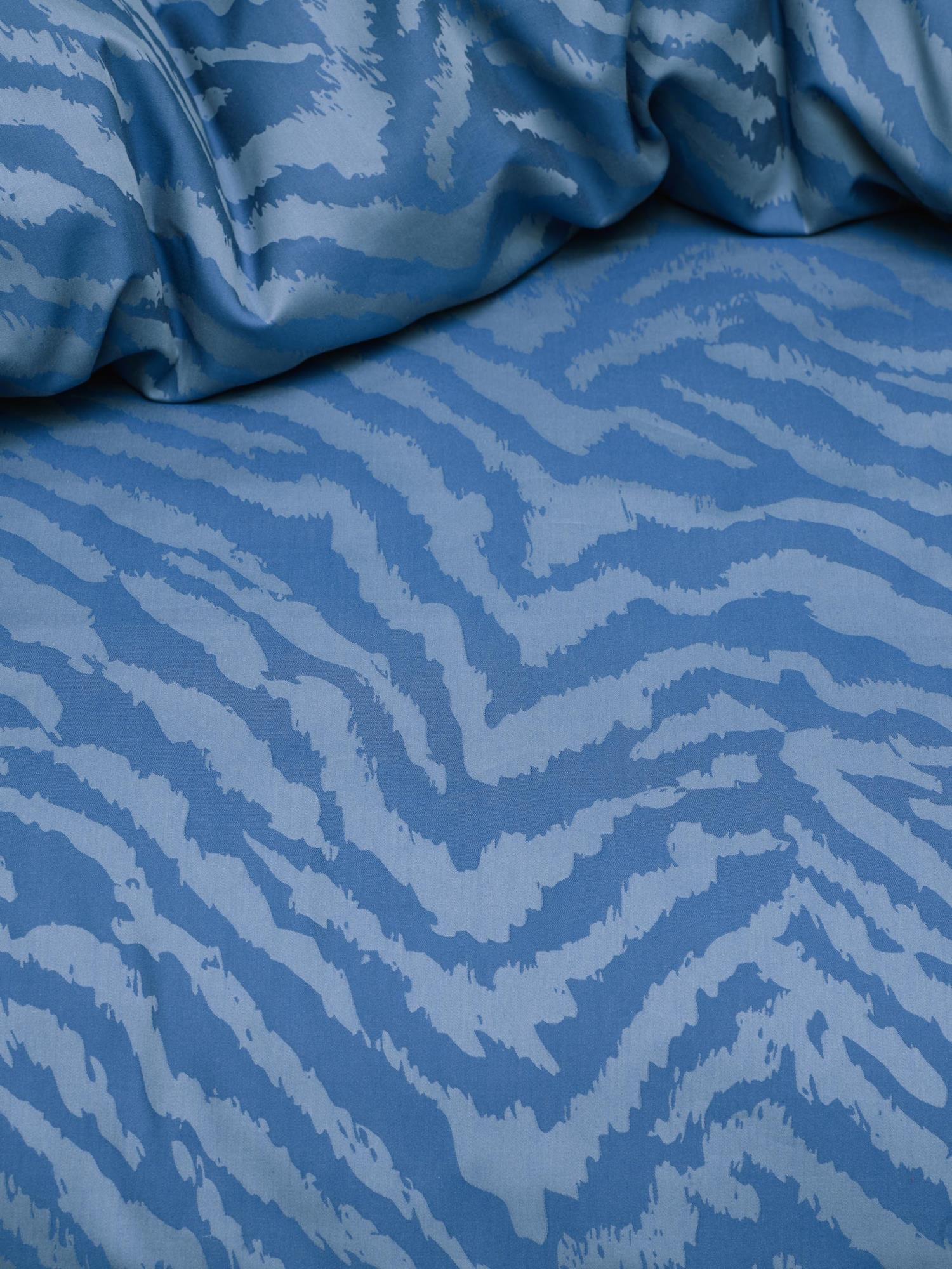 ESSENZA Belen Moonlight blue Dekbedovertrekset 140 x 220 cm