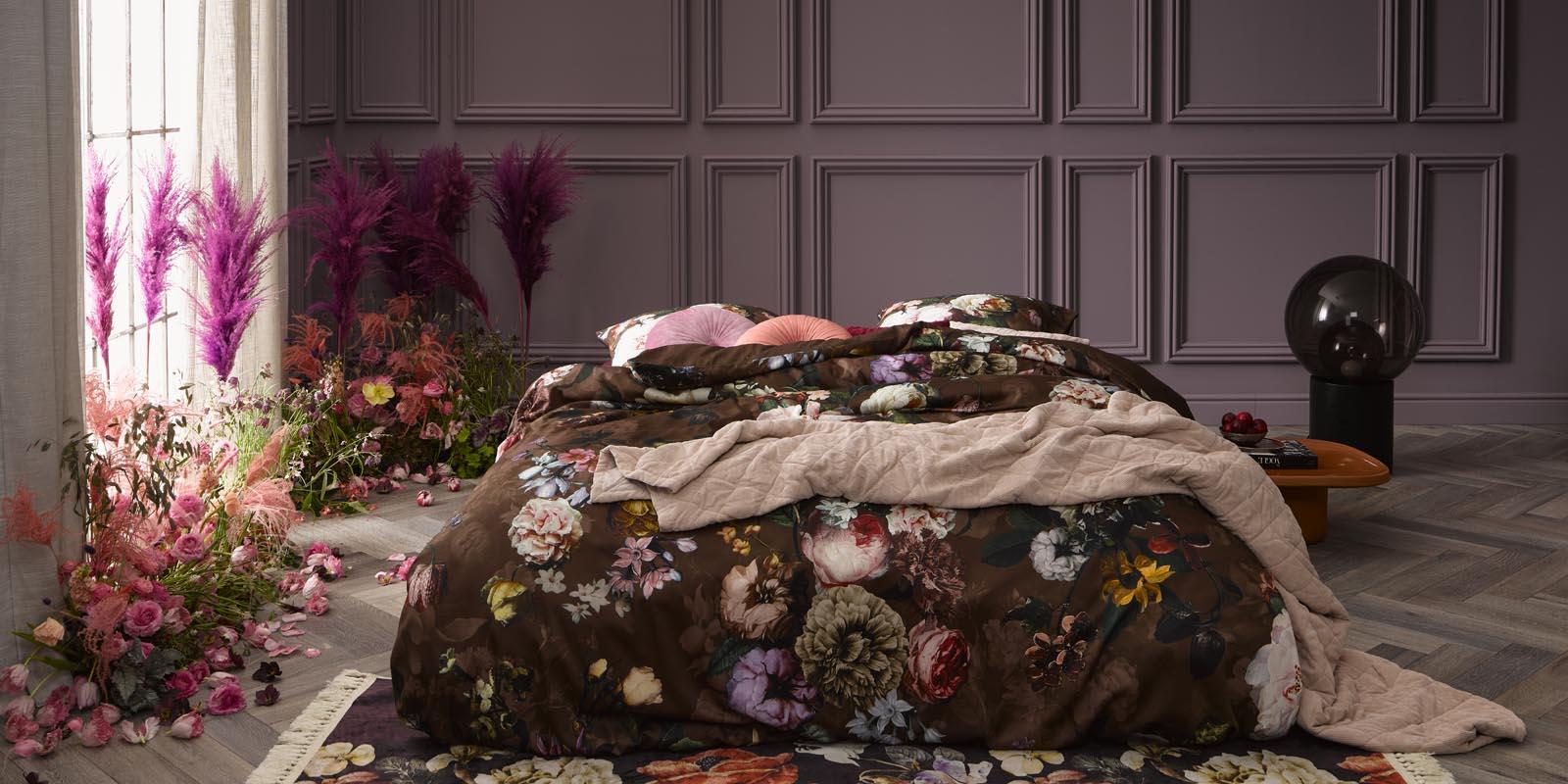 ESSENZA Fleur Chocolate Dekbedovertrekset 240 x 220 cm