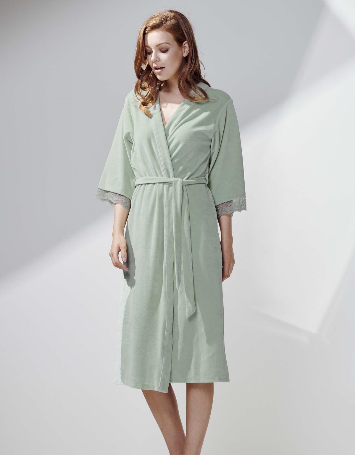 ESSENZA Ilona Uni Sage green Kimono M
