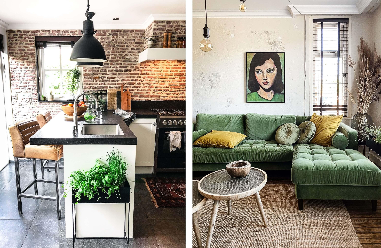 Interieur van Andrea de Groot (keuken en woo