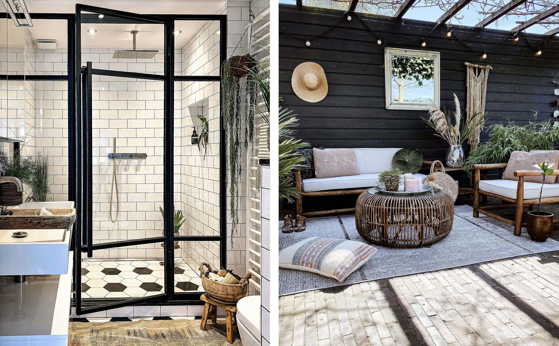 Interieur van Andrea de Groot (badkamer en tuin)